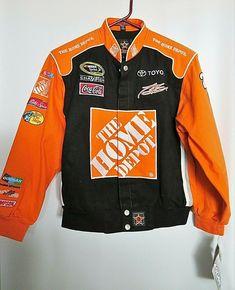 53223117b84 Nascar Jacket Tony Stewart Home Depot JH Design Boys Large Black Orange W  Tag  JHDesignGroup