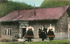 Setesdal, Norway women in traditional dress.