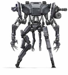 """benmaurodesign: """" ELYSIUM Kruger was initially going to get killed and have his brain transplanted into this horrible killer robot that terrorized and murdered all the gangsters invading ELYSIUM. Concept Art World, Robot Concept Art, Robot Leg, Drones, Military Robot, Image Tumblr, Mekka, Arte Cyberpunk, Robot Design"""