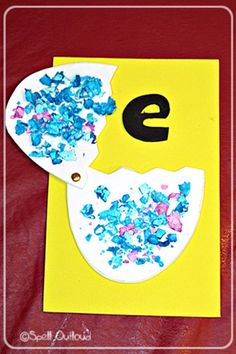 E - letter craft. Could put other fun Easter items in more eggs.