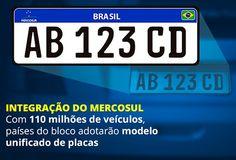 Canadauence TV: Vem aí a nova placas padrão Mercosul  2017 para to...