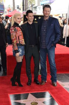 """Gwen Stefani and Blake Shelton support fellow """"The Voice"""" coach Adam Levine as he's honored with a s... - Jim Smeal/BEI/Shutterstock/Rex USA"""