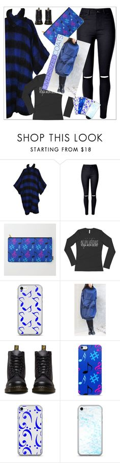 """""""Chilling In My Oversized Coat"""" by atelier-briella ❤ liked on Polyvore featuring Yves Saint Laurent, WithChic, Joie, Music Notes, Dr. Martens, cute, bag, iPhonecases and oversizedcoats"""