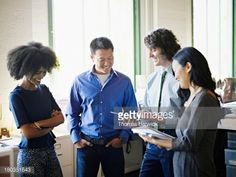 Stock Photo : Businessman discussing project with coworkers