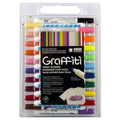 <div>Easy and fun, these fabric markers are great for drawing on light colored fabrics. Easily c...