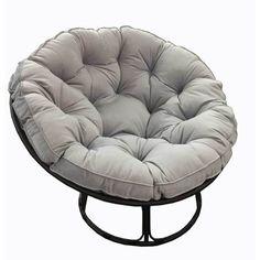Oatmeal Faux Fur Papasan Chair Cushion Papasan Chair