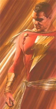 Original Captain Marvel, Captain Marvel Shazam, Ms Marvel, Comic Book Artists, Comic Artist, Comic Books Art, Arte Dc Comics, Dc Comics Superheroes, Alex Ross