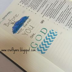 {Journaling Bible} My newest craft endeavor