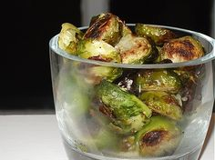 Roasted Brussels Sprouts for Rosh Hashana. I prep them the night before.