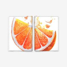 Обложка для паспорта «Солнечный апельсин, акварель»