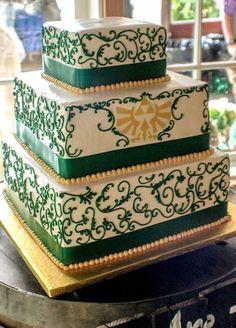 Awesome Zelda wedding cake!