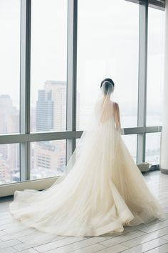 Elegant Monique Lhuillier wedding dress: A Classic New York City Wedding in SOHO