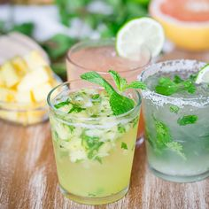 Pineapple Caipirinha. A sweet, minty cocktail perfect for Cinco de Mayo.