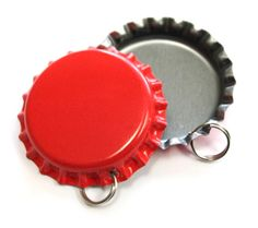 Cherry Red standard Bottle Cap Pendants from Bottle Cap Co offering over 30 different colors of Standard Bottle Caps for crafting and jewelry making. Our standard bottle caps are 1 inch in diameter. Crafts To Make, Fun Crafts, Cherry Red Color, Bottle Cap Crafts, Valentines Day Party, Different Colors, Jewelry Making, Pendants, Ideas