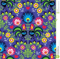 Seamless Polish Folk Art Pattern