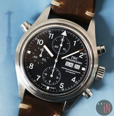 """""""IN The Distance!"""" #IWC 42mm Pilot Doppel Chronograph Ref#: IW3713 http://www.elementintime.com/IWC-Pilot-Doppel-Chronograph-IW3713-Stainless-Steel-Sku-9139"""
