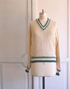 Pierre Cardin 70s tennis sweater $65