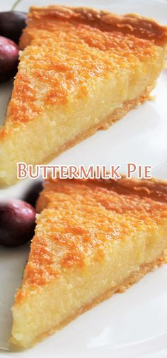 4 Thanksgiving Dessert Recipes That Can Make A Great Addition To Your Holiday Meal Pie Dessert, Cookie Desserts, No Bake Desserts, Just Desserts, Delicious Desserts, Yummy Food, Buttermilk Pie, Buttermilk Recipes, Pie Recipes
