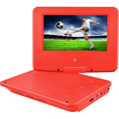 """Ematic - 7"""" Portable DVD Player - Red, EPD707RD"""