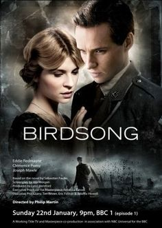 I have read Sebastian Faulk's novel Birdsong and really loved it but tv adaptations are usually a let down. However the two part series on BBC1 was completely AMAZING! I don't think I have ever been emotionally affected by a film so much as this truly stunningly acted drama if you can possibly get to see it do as it really is not to be missed!