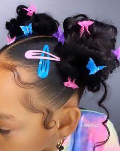 Little Girls Natural Hairstyles, Birthday Hairstyles, Kids Curly Hairstyles, Black Girl Braided Hairstyles, Baddie Hairstyles, Black Little Girl Hairstyles, Hair Up Styles, Natural Hair Styles, Aesthetic Hair