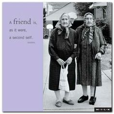 A friend is a second self...