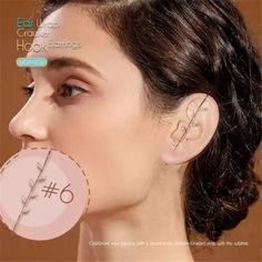 US$ 18.9 - Ear Wrap Crawler Hook Earrings - m.sheinv.com Peircings, Ear Piercings, Cool Things To Buy, Stuff To Buy, Beautiful Bags, Hoop Earrings, Jewels, Chain, Dresses