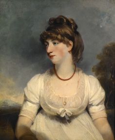 Portrait of Miss Fisher by Hoppner, John, English, about 1800-1805.