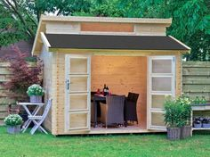 Grand Chalet, Habitats, Garden Design, Outdoor Living, Shed, Outdoor Structures, Patio, Home, Administration