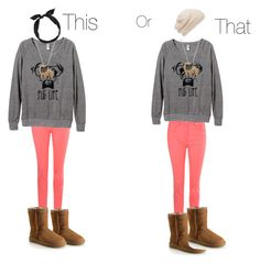 This or That by taste-by-teenz on Polyvore featuring Jane Norman, UGG Australia, Forever New and yunotme