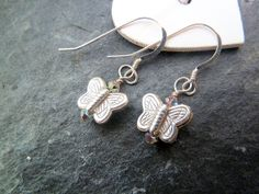 Gorgeous Sterling Silver Butterfly Dangle by TripleMoonStar, £8.00