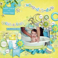 Rub A Dub Dub Collection by Bella Gypsy Designs Fuss Free: Baby Youre A Star by Fiddle-Dee-Dee Designs