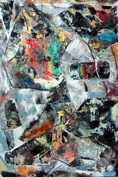 "Saatchi Art Artist Matthew Dibble; Painting, ""Leaning Crowd"" #art"