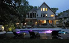 ready to entertain Garden Landscape Design, Garden Landscaping, Mansions, Backyards, House Styles, Pools, Plants, Gardens, Design Ideas