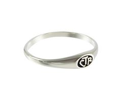 Micro Mini CTR Ring – Sterling Silver. Dainty CTR ring. Perfect gift for baptism. Only $19.99.