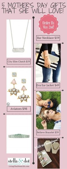 Mother's Day Gifts from Stella & Dot Independent Stylist visit my boutique at stelladot.com/stapleton