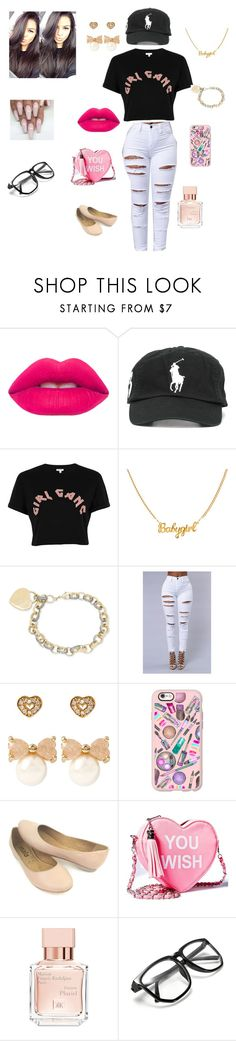 """Girl Gang!!"" by queenraina1 on Polyvore featuring Lime Crime, Polo Ralph Lauren, River Island, Betsey Johnson, Casetify, Sugarbaby and Maison Francis Kurkdjian"