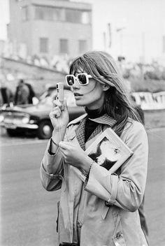 Françoise Hardy and a Minox spy camera.