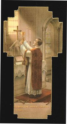 """""""Put all the good works in the world against one Holy Mass. They will be as a grain of sand beside a mountain."""" - St. John Vianney"""