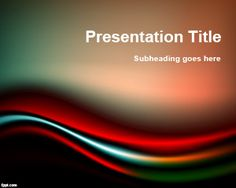 15 best color powerpoint templates images on pinterest ppt black red powerpoint template is a free abstract powerpoint background with curves and shocking colors toneelgroepblik Choice Image