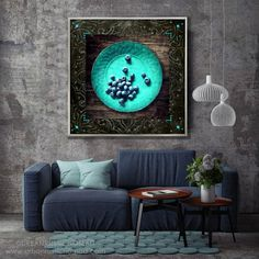 All things wabi sabi - had creative time building up this wall print - I took the photograph of one of my favourite berries on one of my favourite turquoise plates, and then digitally built up the rest of the design :)  https://etsy.me/2HzEzUw  #wabisabi #turquoise #blue #wallart #weathered #shabbychic #rustic #interiors #interiordesign #homedecor #digitalprint #printables #homestyling #interior4all #artistsofinstagram #interiorinspiration #dream_interiors #urbanrusticnomad #hygge #lagom