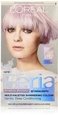 L'Oreal Paris Hair Color Feria Pastels Dye, Smokey Lavender P12