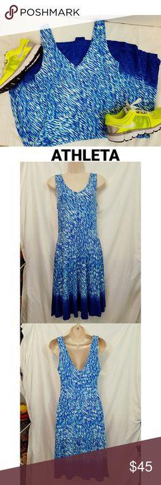 ATHLETA Blue Tennis Workout Dress Gorgeous Athleta Dress Size Small Athleta Dresses