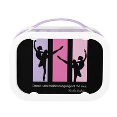 Ballerina Silhouette in Pink Lunch Box