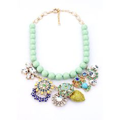 Bubble Bib Statememt Necklace Anthropologie by Anetejewelry, $30.99