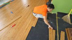 Thi công sàn tre Ali ép ngang màu cafe www.bambooali.com