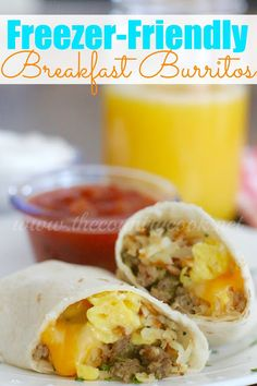 The Country Cook: Freezer-Friendly Breakfast Burritos
