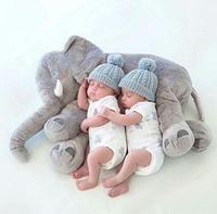 5-Color 60/40 CM Plush Stuffed Animal Elephant Baby Sleeping Back Cushion