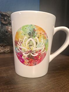 Splatter Lotus Coffee Mug | Lotus Cup | Cute Coffee Mug | Zen Coffee Cup | Wholistic Gift by LeStrangeExchange on Etsy https://www.etsy.com/listing/494377494/splatter-lotus-coffee-mug-lotus-cup-cute