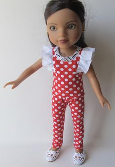2 Piece Red And White Polka Dot Outfit For Hearts For Hearts Dolls